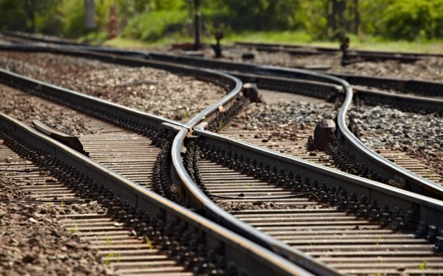 Rails and switches of a railroad line
