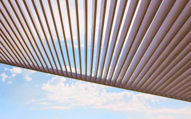 canopy from wooden levels
