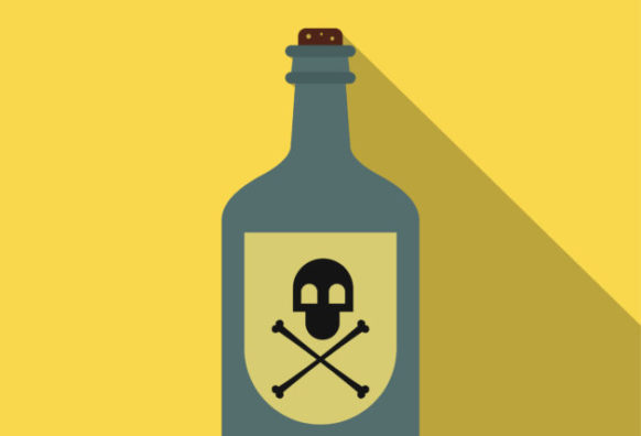 Poison bottle flat icon