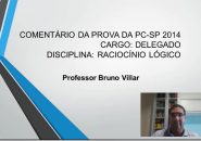 Professor Bruno Villar comenta a prova do concurso PC/SP